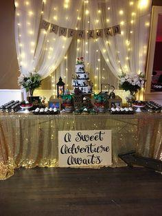 Peter Pan Birthday Party Dessert Table-A Sweet Adventure Awaits TheIcedSugarCookie.com Sugar Cuppies