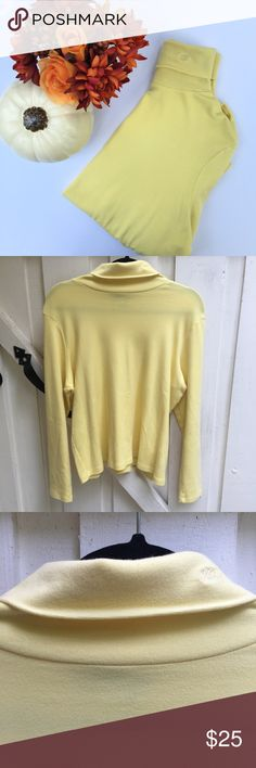 FALL ARRIVAL 🍁🍂 vintage RL yellow turtleneck vintage yellow RL sweater. size is 1x but would fit better as an oversized small/medium. great vintage condition! Vintage Sweaters Cowl & Turtlenecks