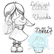 Share a sweet treat with this Eat Cake digital stamp! Find more digi stamps provided by none other than Tiddly Inks!