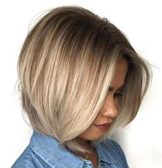 Pretty Ash Blonde Bob with Root Fade