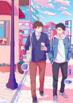 Haikyuu Funny, Haikyuu Fanart, Haikyuu Anime, Iwaoi, Oikawa, Kageyama, Manga Anime, Anime Art, I Love Anime