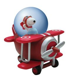 Take a look at this Flying Ace Snoopy Water Globe by Westland Giftware on #zulily today!