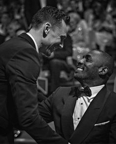 Tom Hiddleston and Idris Elba. Behind the scenes at the Bafta TV awards – in pictures. Source: The Guardian