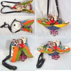 tailandés hecho a mano patchwork de pollo bolsas de honda hombro bolsa bolso cartera