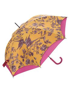 Joules null Walker Brolly, Yellow.                     If you're going to be strolling along when there's a chance of a shower, this is the brolly to pick up. The double canopy will provide extra protection if the clouds really burst.