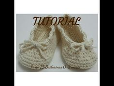 Tutorial zapatitos crochet bebé (primera puesta). Parte II, bailarinas. - YouTube