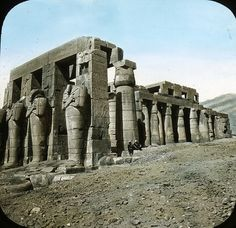 nineteenth century photos of egypt   Old Egyptian Lantern Slides