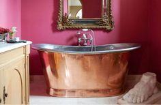 9 x De mooiste roze badkamers ter inspiratie