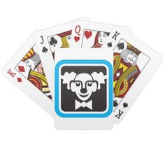 Circus Clown Symbol Playing Cards - fun gifts funny diy customize personal