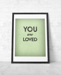 Items similar to Your are loved print. Love print love poster San valentine's print Love poster Valentine's Day Valentines gift on Etsy Black And White Coffee, Black And White Love, Valentine Greeting Cards, Valentine Gifts, Valentine Ideas, Typography Prints, Typography Poster, Good Morning Sunshine, Love Posters