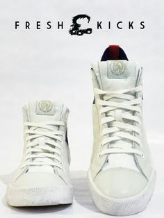 Available right now on www.freshkickssa.com.  Diesel - S-tunnyngs White Twilight Blue