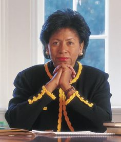 """""""In 2001, Ruth Simmons made history when she became the first African-American president of an Ivy League university.... Found on http://www.makers.com/ruth-simmons and photo on  http://www.brown.edu/Administration/News_Bureau/2000-01/00-049.html"""