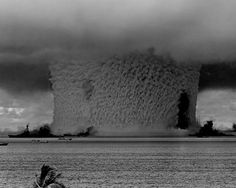 World's First Nuclear Explosion | Underwater Baker nuclear explosion, July, 1946.