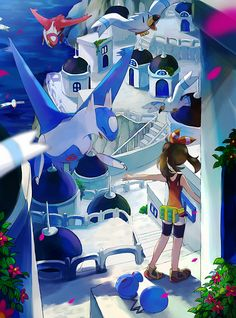 An alternative reality in which creatures with superpowers and their owners compete with each other for the title of the best Pokémon master. Pokemon Mew, Pokemon Latias, Latios And Latias, Pikachu, Pokemon Fan Art, Sapphire Pokemon, Pokemon Omega Ruby, Chibi, Pokemon Special