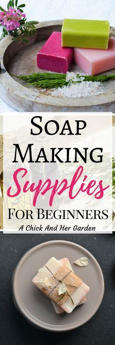 When I decided to learn how to make cold process soap it was a little overwhelming. This is the perfect list of supplies for the beginner to get started making soap! #cpsoap #coldprocesssoap #makesoap #soap #soapmaking #DIY #crafting #naturalskincare #makeyourownsoap #achickandhergarden