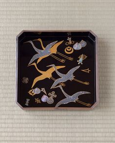 Maki-e lacquer tray, underglaze by KAMISAKA Sekka, Taisho period (1912~1926), Japan
