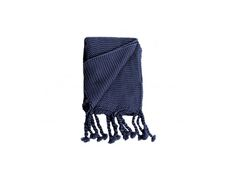 Keystone with rope tassels in storm, navy and mustard makes an arresting focal point! Blue Throws, How To Make, Style