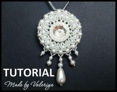 Beading pattern pendant beading tutorial by JewelryMadeByValeria
