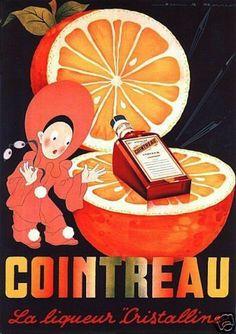 Cointreau Drink 1950 's French Beverage Vintage Poster Art Print Home Bar Decor | eBay