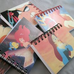 The Little Mermaid Mini Notebook - Recycled Trading Cards | CultureRevolution - Paper/Books on ArtFire
