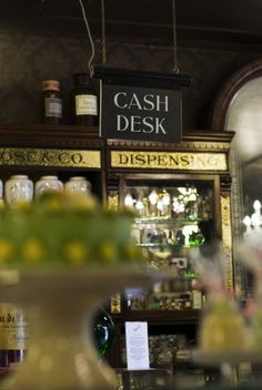 """Cash Desk"" at Rose & Co. Apothecary, Haworth.  www.roseandcompany.com"