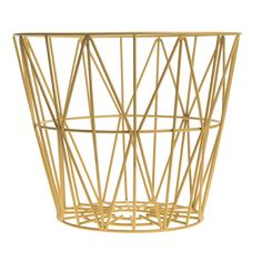 Wire Basket Medium made by ferm Living, the versatile storage basket and bin, now available in the interior design shop!