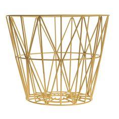 Wire Basket Medium - Yellow