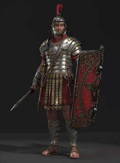 Modified the design of the Roman Legion. Thanks for watching. Roman Characters, Fantasy Characters, Fantasy Castle, Medieval Fantasy, Ancient Rome, Ancient History, Ancient Sparta, Roman Armor, Roman Warriors