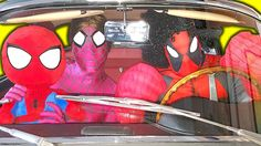 Spiderman w/ Pink Spidergirl Dancing in a Car - Superhero Funny Movie in...