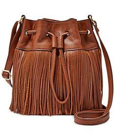 Fossil Jules Fringe Leather Drawstring Mini Bag Handbags   Accessories -  Macy s 6cb77b0f3a243