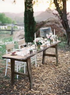 Sweetheart Table   Casual Elegance on http://www.StyleMePretty.com/2014/03/21/hilltop-al-fresco-wedding-in-malibu-california/ Photography: Kurt Boomer - kurtboomerphoto.com on #SMP