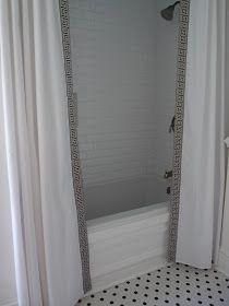 Hazardous Design: Shower Curtain, DIY Style--- definitely doing something similar!