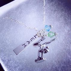 Sporty Girl Gymnast Personalized Hand Stamped Name Necklace on Etsy, $22.00