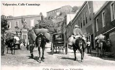 Imágenes de Chile del 1900: Valparaíso, calle Cummings
