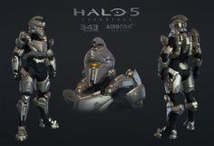 ArtStation - Halo 5 Multiplayer Armor Achilles, Airborn Studios