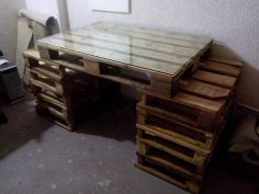 Pallet WOrk Table #Desk, #Pallets, #Table