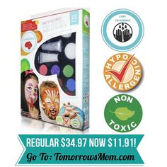 Are you having a birthday  party soon? Then grab this natural paraben free face paint kit GO to link in my bio @tomorrowsmom for details . . . . Visit My Blog: TomorrowsMom.com |Organic & Natural Deals|Family Savings Deals| . TAG OR DM THIS DEAL 2 A FRIEND .  #frugal #savings #deals #cosmicmothers  #organic #fitmom #health101 #change #nongmo #organiclife #crunchymama #organicmom #gmofree #organiclifestyle #familysavings  #healthyhabits #lifechanging #fitpeople #couponcommunity #deals…