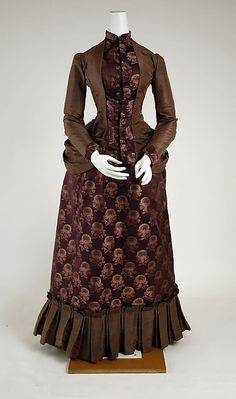 Wedding dress Date: 1884 Culture: American Medium: silk