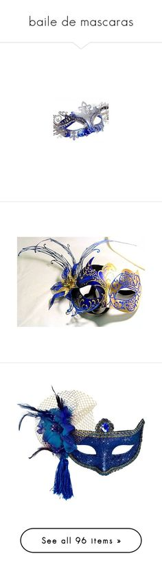 """""""baile de mascaras"""" by anjinha1267 on Polyvore featuring mask, costumes, white costumes, white halloween costumes, blue costumes, blue halloween costumes, masquerade costume, masks, accessories e masquerade party costumes"""