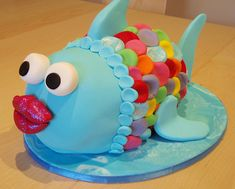 Rainbow Fish Cake. This would be great for a kids birthday and theme it around the book!