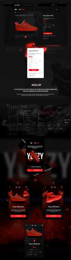 Adidas X Kanye West 'Yeezy Bloodline' Web/App Concept on Behance
