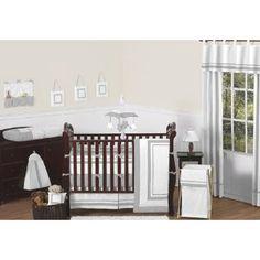 Amazon.com: Contemporary White and Gray Modern HotelGrey Baby Boy Girl Unisex Bedding 9pc Crib Set: Baby