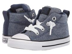 Converse Kids Chuck Taylor All Star Street Urchin - Mid (Infant/Toddler) Boys Shoes Navy/Black/White Toddler Boy Fashion, Little Boy Fashion, Toddler Boy Outfits, Toddler Boys, Kids Fashion, Infant Toddler, Kid Outfits, Toddler Boy Style, Cute Baby Shoes