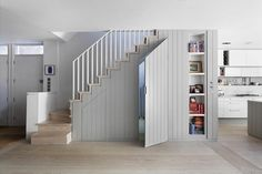 Under Stairs Storage Ideas For Small Spaces Making Your House Stand Out , The concept of under stair storage generally implies a custom made design and that usually means you have the freedom to determine precisely how you w. House, Home, Staircase Design, Understairs Storage, Kitchen Inspiration Design, Staircase Landing, Stairs In Kitchen, Stairs, Small Hallways