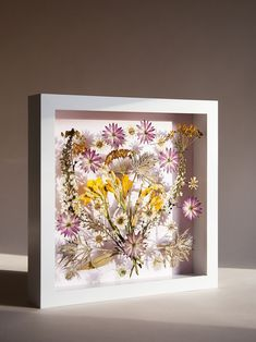 Tips and ideas to preserve Spring and Summer flowers all year long. Who doesn't want to see their favorite blooms in Fall and Winter? Frame pressed flowers in a shadow box or other picture frame.