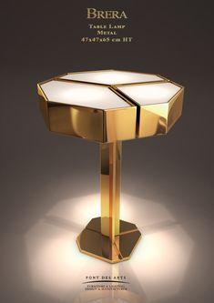 Brera Table lamp gold- Designer Monzer Hammoud - Pont des Arts Studio - Paris