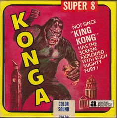 Konga. Classic Monster Movies, Classic Horror Movies, Classic Monsters, Horror Films, Pictures Of America, Monster Stickers, Movie Reels, Dreams And Visions, Monster Illustration
