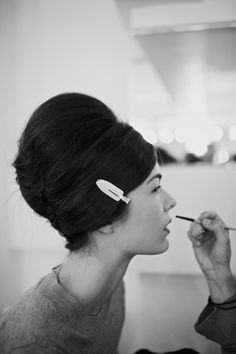 Bridal Market 2012 -Backstage at Christos - photo by Kat Harris for Southern Weddings Magazine
