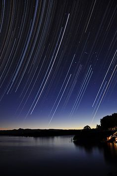 'Star Fall - Lake Samsonvale' by Alex Ball The Lord Reigns, Autumn Lake, Star Trails, Queensland Australia, Gold Coast, Brisbane, Amazing Photography, Moon, Island