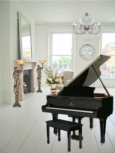"""""""Piano"""" by mandeerose on Polyvore #piano #room #house #black #white #elegant #music"""